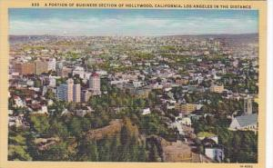 California Portion Of Business District Of Hollywood With Los Angeles In The ...