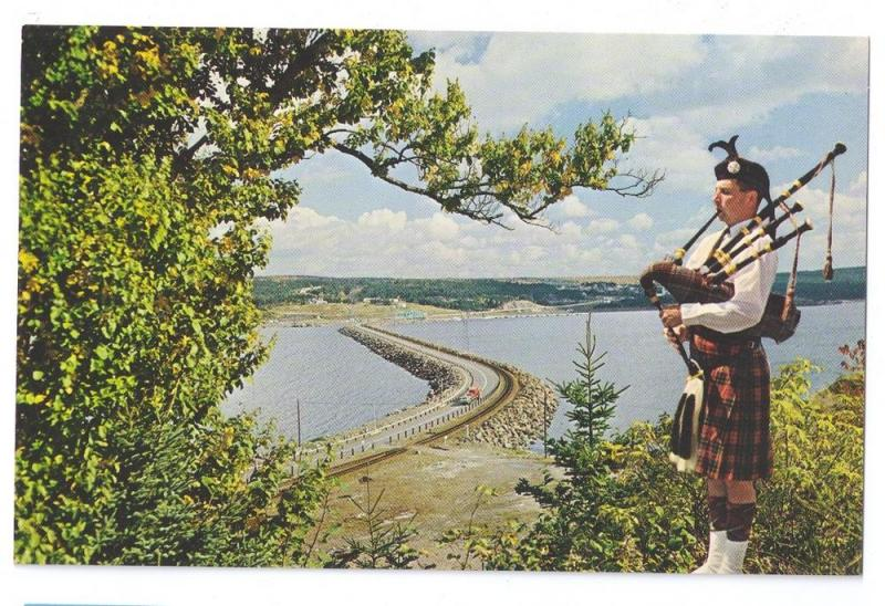Canso Causeway Bagpiper Cape Breton Nova Scotia Bagpipes