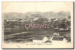 Old Postcard Tonkin Lang Son General view