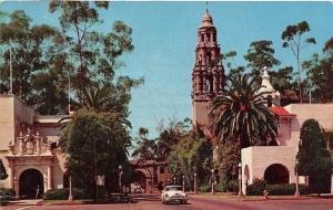 USA The California Tower Balboa Park Auto Vintage Cars San Diego