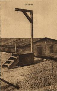 france, NATZWEILER-STRUTHOF, German WWII Concentration Camp, Gallows (1940s)