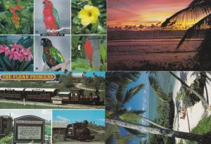 Fijian Sunbathing Birds Flowers Trains Sunset 4x Postcard s