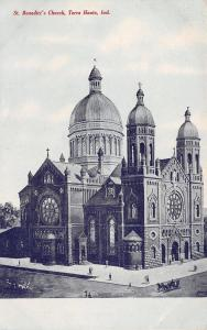 Terre Haute Indiana~St Benedict's Catholic Church~1910 Tom Jones Postcard
