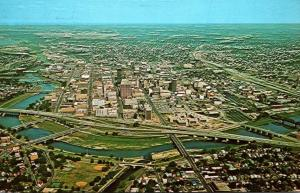 Ohio Dayton Aerial View Looking West 1981