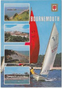 BOURNEMOUTH, multi view, 1985 used Postcard