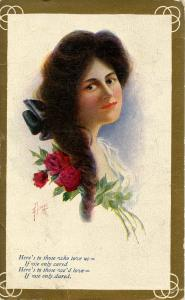 Women - Lady With Roses  Artist: Heinze