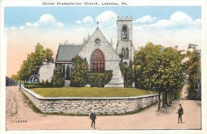 Lebanon Pennsylvania~Christ Presbyterian Church~Bell Tower~Retaining Wall~1920s