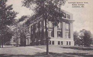 Maine Lewiston Carnegie Science Hall Bates College Albertype