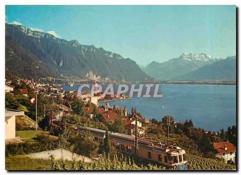 CPM Montreux The MOB Montreux Oberland Bernois and the Dents du Midi