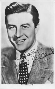 Actor Ray Milland real photo postcard