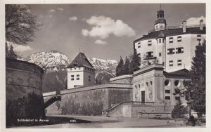 Schlosshof in Amras Real Photo Vintage Austria Postcard