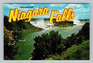 Niagara Falls Ontario, Greetings, Horseshoe, American Chrome Canada Postcard