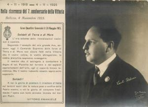 Italian military CARLO DELCROIX Belluno victory bulletin WW1 Vittorio Emanuele