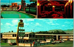 Vintage Socorro, NM Postcard GOLDEN MANOR MOTEL Highway 60 / 85 Roadside c1960s