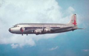 Eastern Airlines Douglas DC-4 Silver Eagle Over Miami In 1947