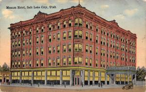 Salt Lake City~10 People in Front of Moxum Hotel at Sunrise~Demolished c1910 PC