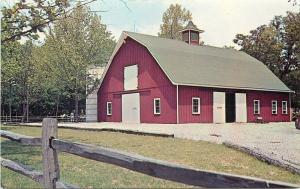 Orrtanna Pennsylvania~Hickory Bridge Farm~Animal Barn~Corn Fritters~1950s PC