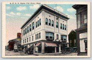 Fall River Massachusetts~BPOE Elks Home Building~Storefronts~Laundering~1916 PC