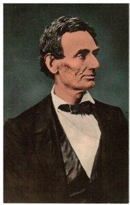 Postcard - President Abraham Lincoln, Profile View, Springfield, Illinois