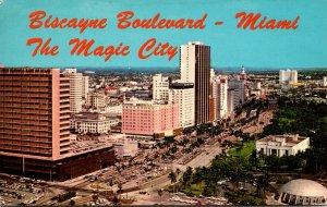 Florida Miami Biscayne Boulevard Looking North