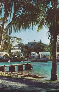 Peaceful Flatts Inlet in Smith's Parish,Bermuda,40-60s