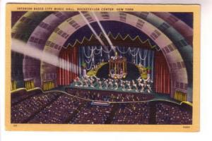 Interior, Rockettes Dancers, Radio City Music Hall, New York City, Orange Border