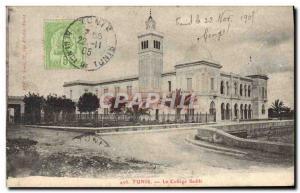 Old Postcard Tunis College Sadiki