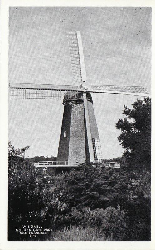 SAN FRANCISCO , California , 1930s; Windmill , Golden Gate Park