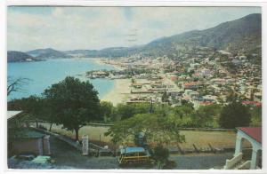 Panorama Charlotte Amalie Cars St Thomas US Virgin Islands 1966 postcard