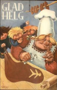 Swedish Fantasy - GLAD HELG Monsters Trolls Bake Cookies Cutter Solling Pin PC