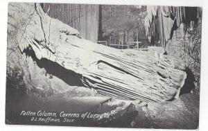 VA Luray Caverns Fallen Column D.L. Kauffman Postcard