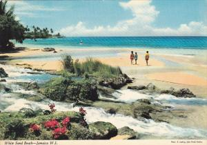 Jamaica White Sandy Beach Scene