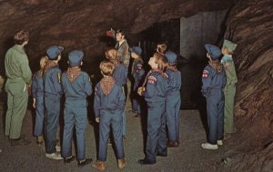 HARPERS FERRY , WV , 1950-60s ; Boy Scouts in Harpers Ferry Caverns