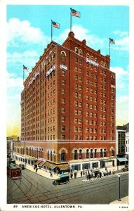 Pennsylvania Allentown Americus Hotel Curteich
