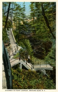NY - Watkins Glen. Stairway to Point Lookout