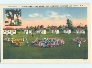 Linen CABIN SCENE Between Waterloo & Geneva New York NY AE3158