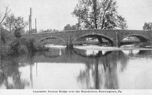 Dowingtown Pennsylvania Lancaster Ave Bridge Brandywine Postcard JE228345