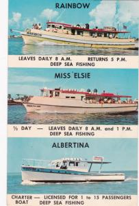 CLEARWATER, FL, 1968; General Information About Boats, Rainbow, Miss Elssie, Alb
