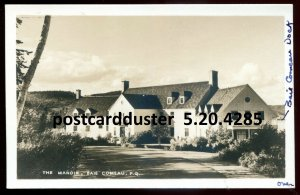 4285 - BAIE COMEAU Quebec 1940s The Manoir. Real Photo Postcard