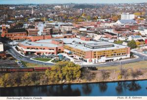 Aerial View of Peterborough Square, Peterborough, Ontario, Canada, 50-70's