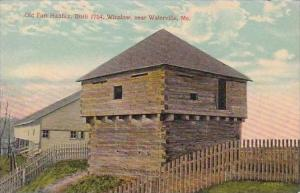 Maine Waterville Old Fort Halifax Built 1754 Winslow