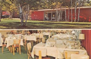 MACKINAW CITY , Michigan , 50-60s ; Neath the Birches Restaurant , spilt views