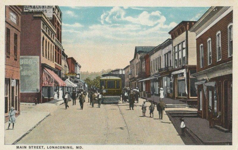 LONACONING , Maryland, 1900-1910s ; Main Street