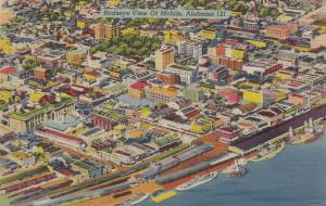 MOBILE , Alabama , 30-40s; Birdseye View of City and Harbor