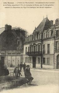 CPA RENNES - L'Hotel de l'Archevéché (112059)