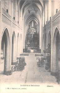 La Nef de la Cathedral Anvers Belgium Unused