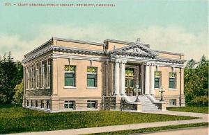 D/B Kraft Memorial Public Library Red Bluff California CA