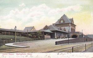 Union Train Depot Station - Springfield MA, Massachusetts - pm 1907 - UDB