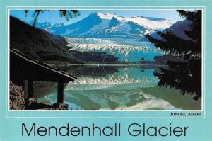 USA Mendenhall Glacier Juneau Alaska Lake Mountain Landscape