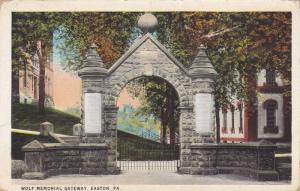 Entrance, Wolf Memorial Gateway, Easton, Pennsylvania, 1910-1920s